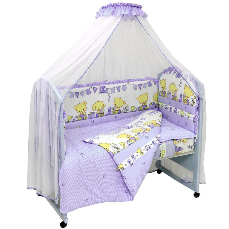 Топотушки Комплект детского постельного белья Звездочка цвет фиолетовый 7 предметов