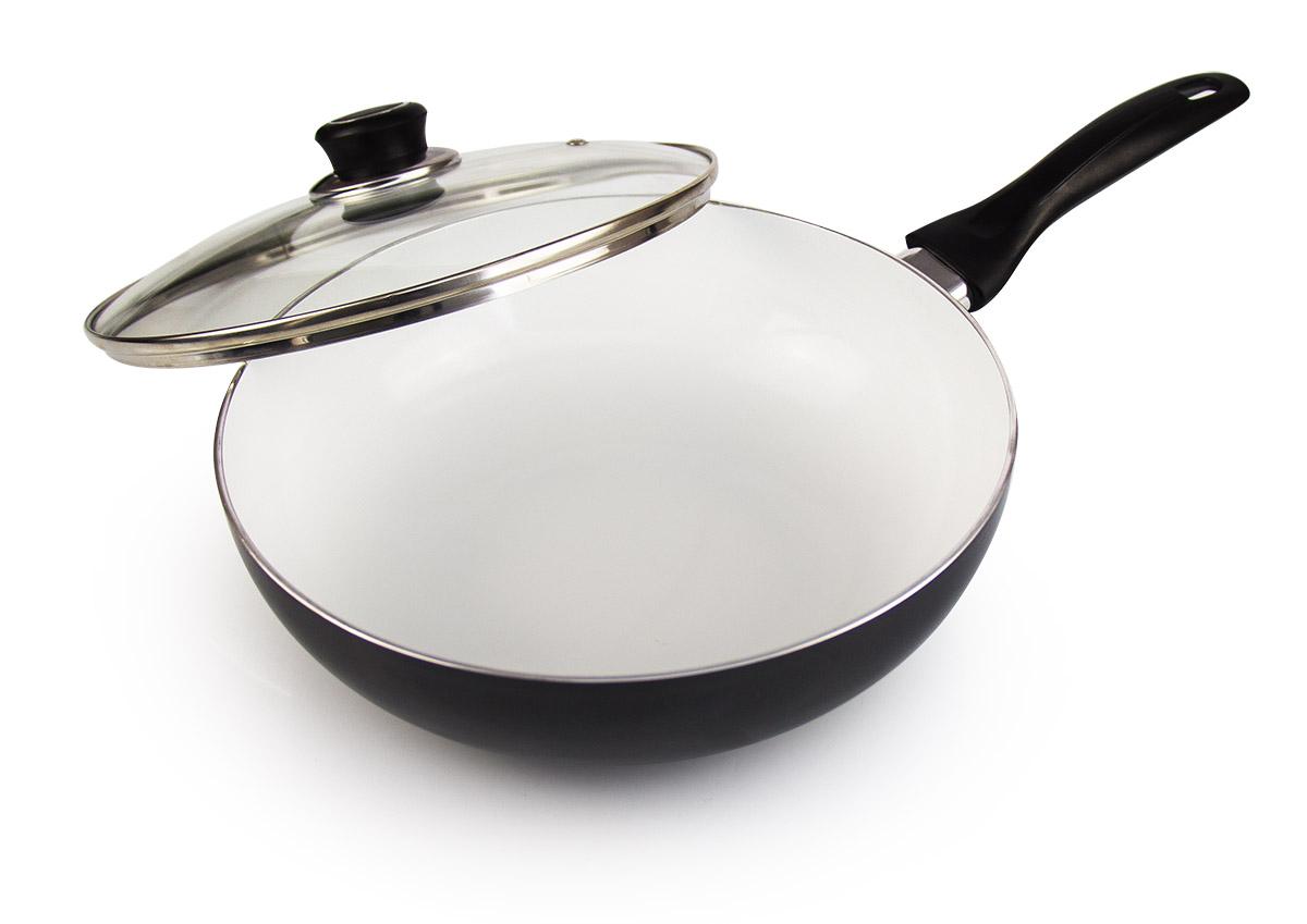 Сковорода-вок Galaxy, с керамическим покрытием, диаметр 26 см. гл9825