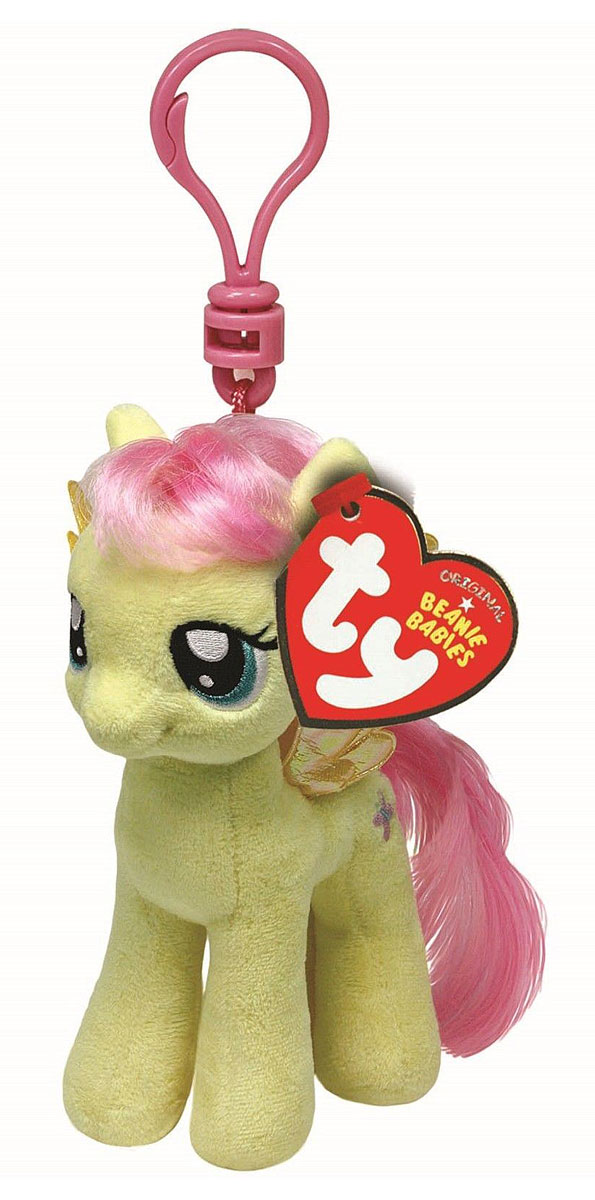 TY Мягкая игрушка-брелок Пони Fluttershy 10 см ty мягкая игрушка брелок пони apple jack 10 см