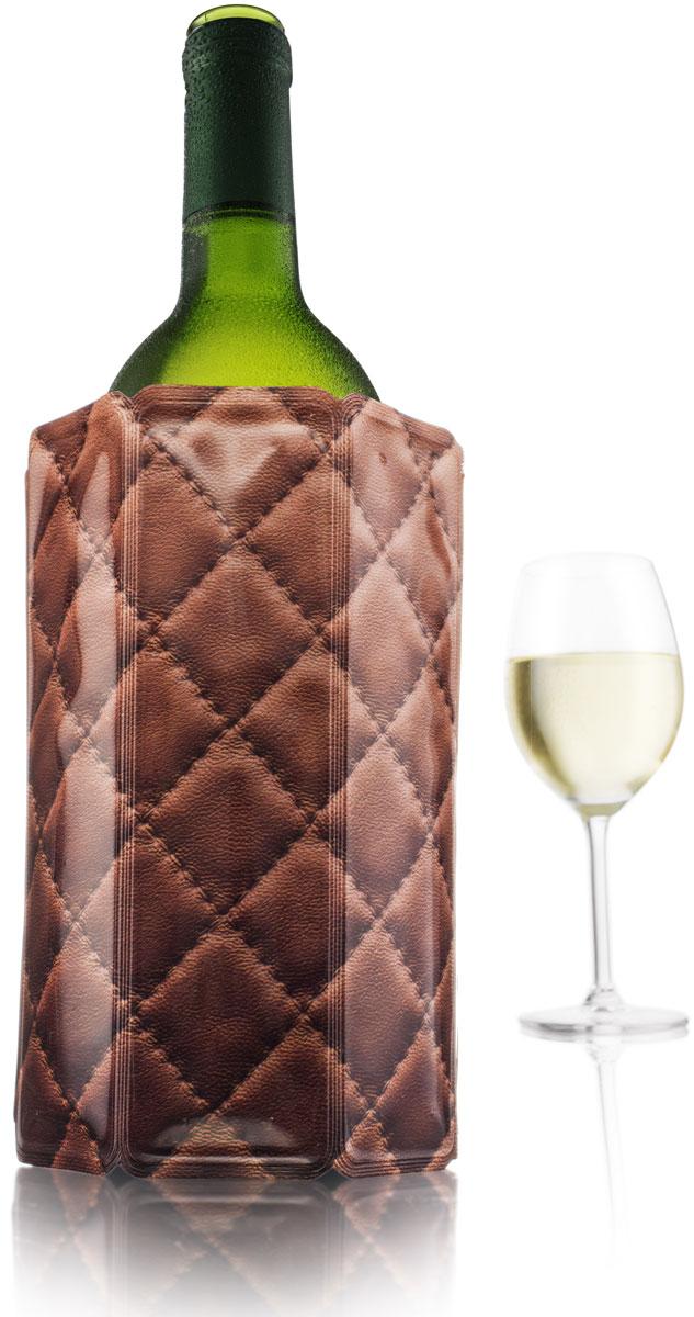 Охладительная рубашка VacuVin Rapid Ice для вина емкостью 0,75 л, кожа38820606Быстрое охлаждение напитков и сохранение их холодными - больше не проблема, если у вас есть охладительная рубашка VacuVin. Удивительные охладительные рубашки VacuVin лучше всего описать как очень холодные мягкие футляры. Вынув его из морозилки, вы просто надеваете его на бутылку. Ее содержимое охлаждается за 5 минут и остается холодным часами. Охладительные рубашки не бьются и могут использоваться многократно.• Активное охлаждение без использования льда• Охлаждает за 5 минут• Храните в морозилке• Не занимают места в холодильнике• Материал: полиэтилен/гель (PE/PA/PET)