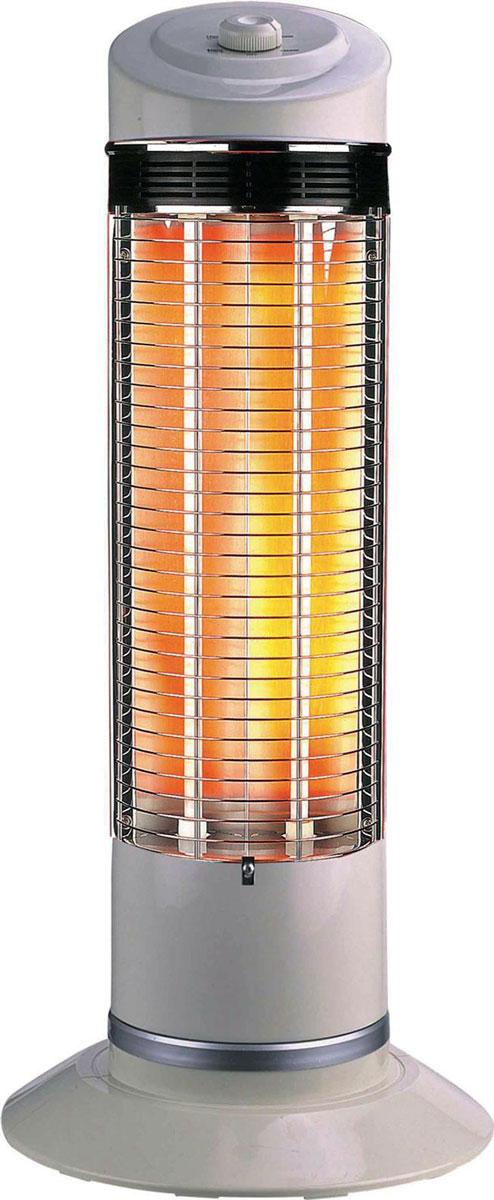 Zenet ZET-511, White карбоновый обогреватель (QH-1200)QH-1200Нагревательный элемент в карбоновом обогревателе Zenet QH-1200 изготовлен из тканной углеводородной (карбоновой) нити, имеющую форму спирали и запаян в вакуумную кварцевую трубку. За счёт того, что нагревательный элемент карбоновая (углеводородная) нить, у которой теплопроводность намного выше, чем у обогревателей, где нагревательный элемент, по сути, металлическая проволока (керамические, масляные), карбоновый обогреватель потребляет меньше электроэнергии в 2 - 2,5 раза. Причём, эффективность нагрева такая же, как у выше перечисленных обогревателей, при потреблении 1,8 - 2,4 КВт, против 1200 Вт у карбонового обогревателя. Что в нынешней ситуации, когда электроэнергия стоит дорого и нагрузка на сеть, соответственно, меньше в 2 - 2,5 раза, имеет не маловажное значение.Нагревательный элемент имеет долговечный срок службы, при условии соблюдения технических условий эксплуатации (220 Вольт 50 Гц) , в отличии от вышеупомянутых обогревателей, у которых нагревательный элемент имеет свойство провисать и окислятся с течением времени. Галогенные обогреватели (трубки заполненные газом), так же имеют ограниченный (полугодовой) ресурс работы. Конструктивная особенность обогревателя позволяет вращаться на 180 градусов, что даёт возможность обогревать, при потреблении в 1200 Вт, площадь до 30 кв. м.За счёт того, что нагревательный элемент Zenet QH-1200 запаян в вакуумной кварцевой трубке (защищён от проникновения влаги) и расположен вертикально, исключено попадания на него пыли и, соответственно, ее сгорания. Карбоновый обогреватель относится инфракрасным обогревателям к классу длинноволновых (прогревают не воздух, а окружающие его предметы и тело человека), поэтому не сушат воздух и не сжигают кислород.Нагревательный элемент обычных обогревателей обладает нагревательной эффективностью на расстоянии до одного метра, а карбоновый до 3 - 4 метров. Карбоновый обогреватель Zenet QH-1200 способен прогревать тело человека на н
