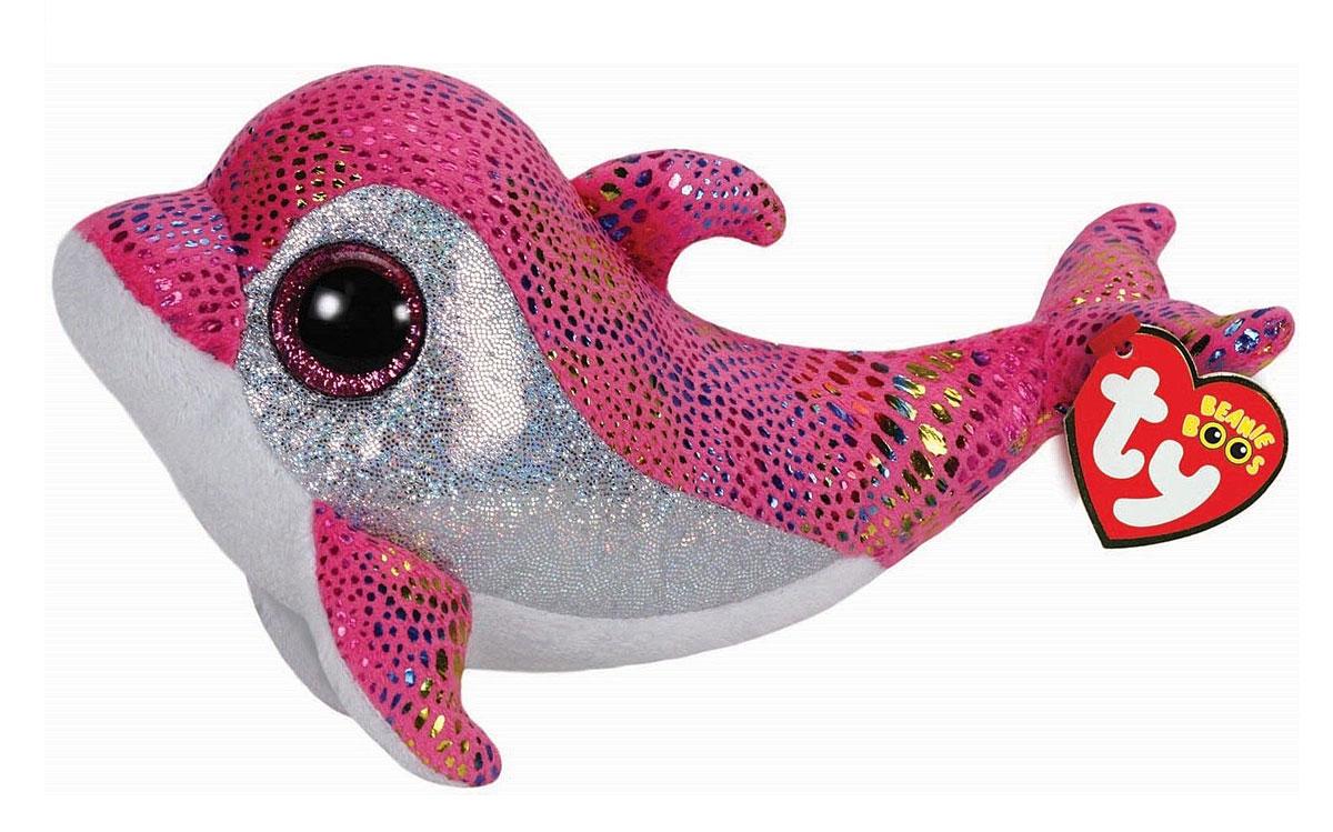 TY Мягкая игрушка Дельфин Sparkles 19 см