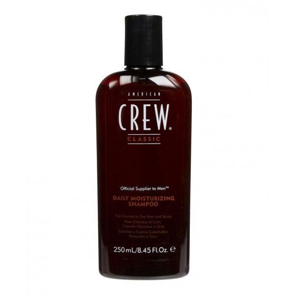 American Crew Шампунь для ежедневного ухода за нормальными и сухими волосами Classic Daily Moisturizing Shampoo 250 мл0990-81524907American&nbsp Crew Daily Moisturizing Shampoo Шампунь для ежедневного ухода за нормальными и сухими волосами прекрасно питает, увлажняет и тщательно очищает волосы по всей длине. В составе шампуня Американ Крю имеется рисовое масло, которое придаёт волосам эффектный блеск, при этом сохраняя их естественный натуральный цвет. Экстракты розмарина и тимьяна способствуют тщательному уходу за сухими или повреждёнными волосами, восстанавливают их и наделяют силой и здоровьем. Шампунь Американ Крю Daily Moisturizing подходит для тщательного ежедневного ухода, делает волосы необычайно мягкими, гладкими и шелковистыми, отлично тонизирует и освежает, обеспечивая хорошее настроение. Подходит для типов волос: нормальные, сухие, ослабленные, ломкие, повреждённые.