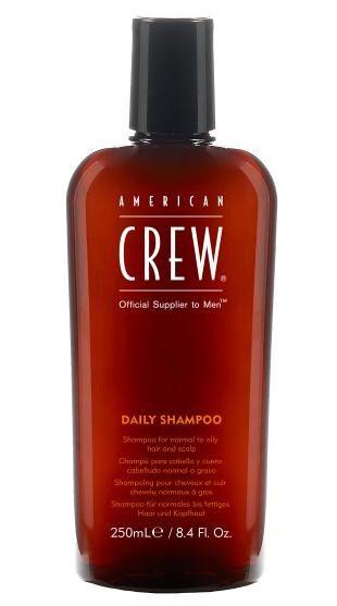 American Crew Шампунь для ежедневного ухода Classic Daily Shampoo 250 мл7209560000Предназначенный для ежедневного ухода шампунь American Crew Classic Daily Shampoo включает в себя огромное количество полезных компонентов. Кора мыльного дерева очищает кожу головы и волосы, не влияя при этом на их структуру. Экстракты тимьяна и розмарина придают необходимое увлажнение, а блеск и силу волосам дадут протеины пшеницы. Данное средство рекомендуется для обогащения и очищения жирных и нормальных волос.