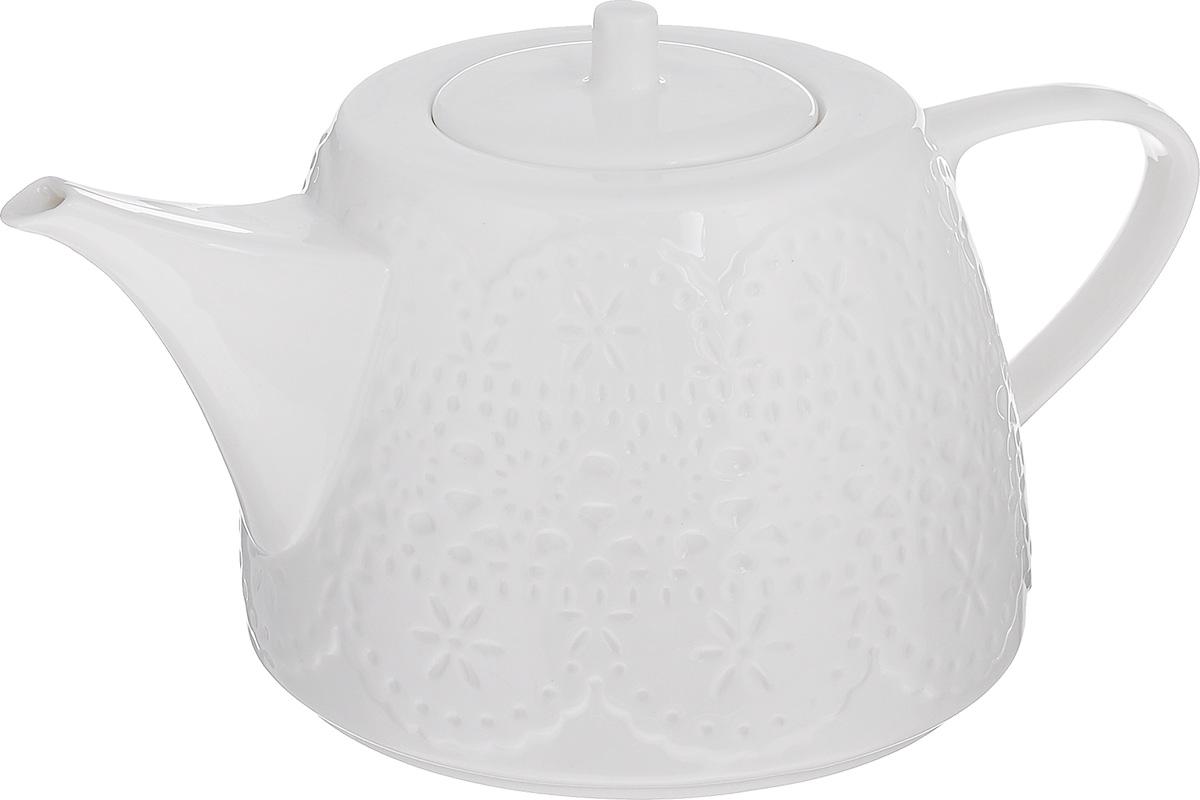 Чайник заварочный Walmer Charlotte, цвет: белый, 500 мл горшок для запекания walmer classic цвет белый диаметр 12 см