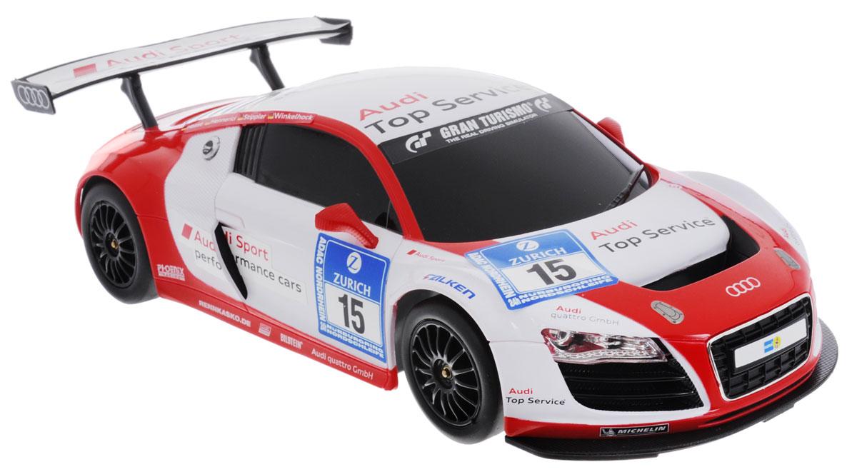 Rastar Радиоуправляемая модель Audi R8 LMS цвет белый красный