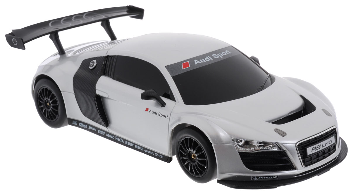Rastar Радиоуправляемая модель Audi R8 LMS цвет белый масштаб 1:18 welly модель автомобиля audi r8 v10 цвет красный