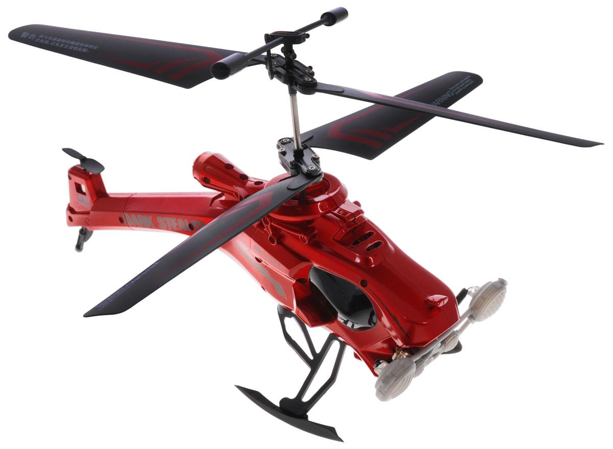 Auldey Вертолет на инфракрасном управлении Dark Stealth цвет красный auldey yw858527 f viper на ик управлении с гироскопом с военной ракетной установкой 28см 3 канала управления