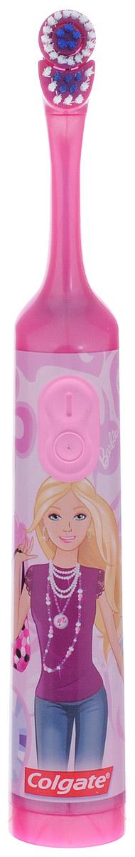 Colgate Электрическая зубная щетка Barbie с мягкой щетиной цвет розовыйFCN10038Colgate Barbie - детская электрическая зубная щетка с мягкой щетиной. Маленькая вибрирующая головка с очень мягкими щетинками очищает детские зубы и бережно удаляет налет. Эргономичная ручка не скользит в ладони, амортизирует давление руки на нежную поверхность десен. Зубная щетка работает от двух батареек типа ААА. Батарейки в комплекте. Товар сертифицирован. Длина щетки: 19,5 см. Размер рабочей поверхности: 2,5 см х 1,5 см. Материал: пластик. УВАЖАЕМЫЕ КЛИЕНТЫ! Обращаем ваше внимание на возможные варьирования в дизайне товара. Поставка возможна в зависимости от наличия на складе.