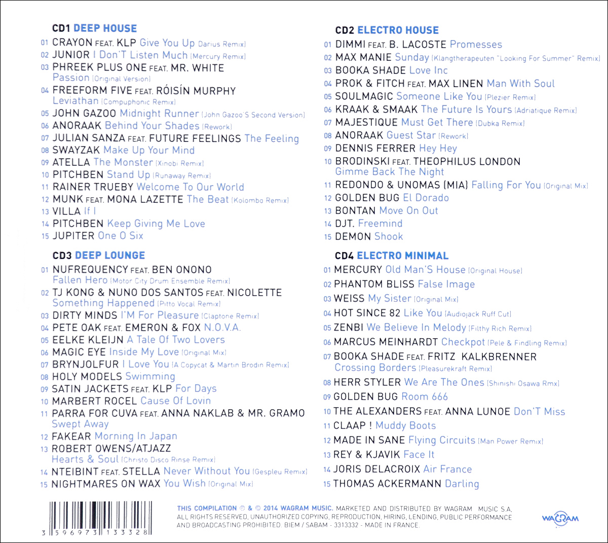 Spirit Of Deep Electro (4 CD) Traum Baum Records,Wagram Music