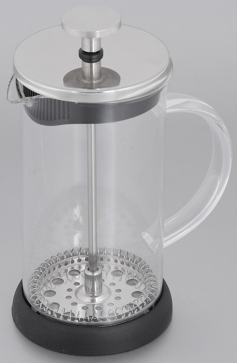 Френч-пресс Mayer & Boch, 350 мл. 2064220642Френч-пресс Mayer & Boch  изготовлен из высококачественной нержавеющей стали и жаропрочного стекла. Фильтр-поршень из нержавеющей стали выполнен по технологии press-up для обеспечения равномерной циркуляции воды. Засыпая чайную заварку или кофе под фильтр, заливая горячей водой, вы получаете ароматный напиток с оптимальной крепостью и насыщенностью. Остановить процесс заваривания легко, для этого нужно просто опустить поршень, и все уйдет вниз, оставляя вверху напиток, готовый к употреблению. Френч-пресс Mayer & Boch позволит быстро и просто приготовить свежий и ароматный кофе или чай.