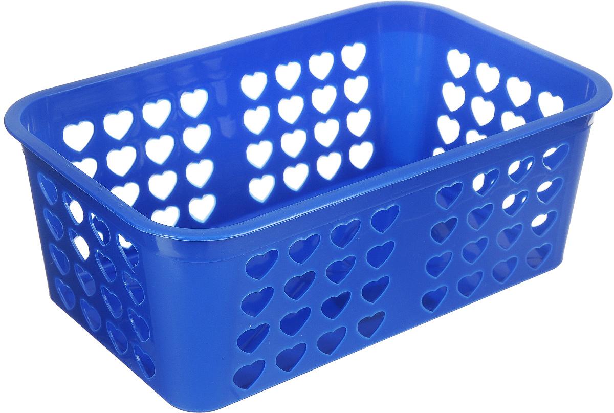 Корзина для хранения Альтернатива Вдохновение, цвет:синий, 26,5 х 16,5 х 10 смМ471Прямоугольная корзина Альтернатива Вдохновение, изготовленная из пластика, предназначена для хранения мелочей в ванной, на кухне, даче или гараже. Корзина со сплошным дном, оснащена перфорированными стенками.Элегантный выдержанный дизайн позволяет органично вписаться в ваш интерьер и стать его элементом.