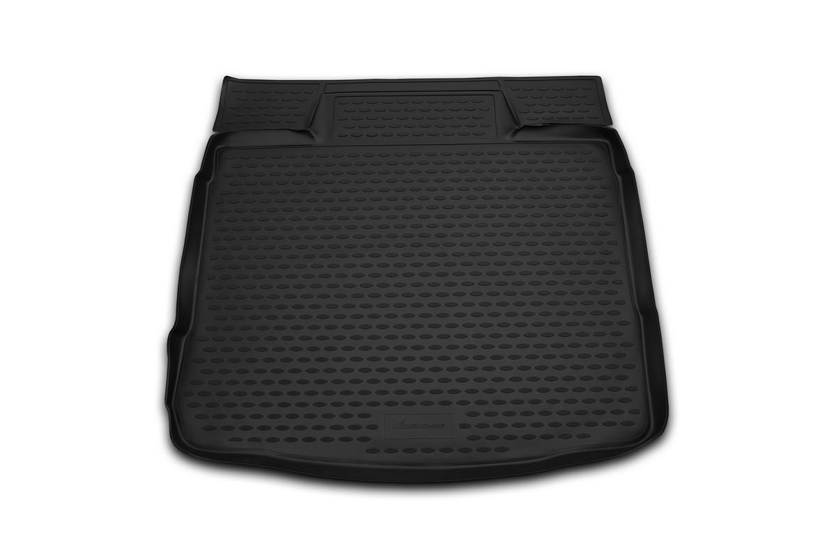 Коврик в багажник автомобиля Novline-Autofamily для Ford Focus II, 2004 -, полноразмерное колесоb000.5.2Автомобильный коврик в багажник позволит вам без особых усилий содержать в чистоте багажный отсек вашего авто и при этом перевозить в нем абсолютно любые грузы. Такой автомобильный коврик гарантированно защитит багажник вашего автомобиля от грязи, мусора и пыли, которые постоянно скапливаются в этом отсеке. А кроме того, поддон не пропускает влагу. Все это надолго убережет важную часть кузова от износа. Мыть коврик для багажника из полиуретана можно любыми чистящими средствами или просто водой. При этом много времени уборка не отнимет, ведь полиуретан устойчив к загрязнениям.Если вам приходится перевозить в багажнике тяжелые грузы, за сохранность автоковрика можете не беспокоиться. Он сделан из прочного материала, который не деформируется при механических нагрузках и устойчив даже к экстремальным температурам. А кроме того, коврик для багажника надежно фиксируется и не сдвигается во время поездки - это дополнительная гарантия сохранности вашего багажа.