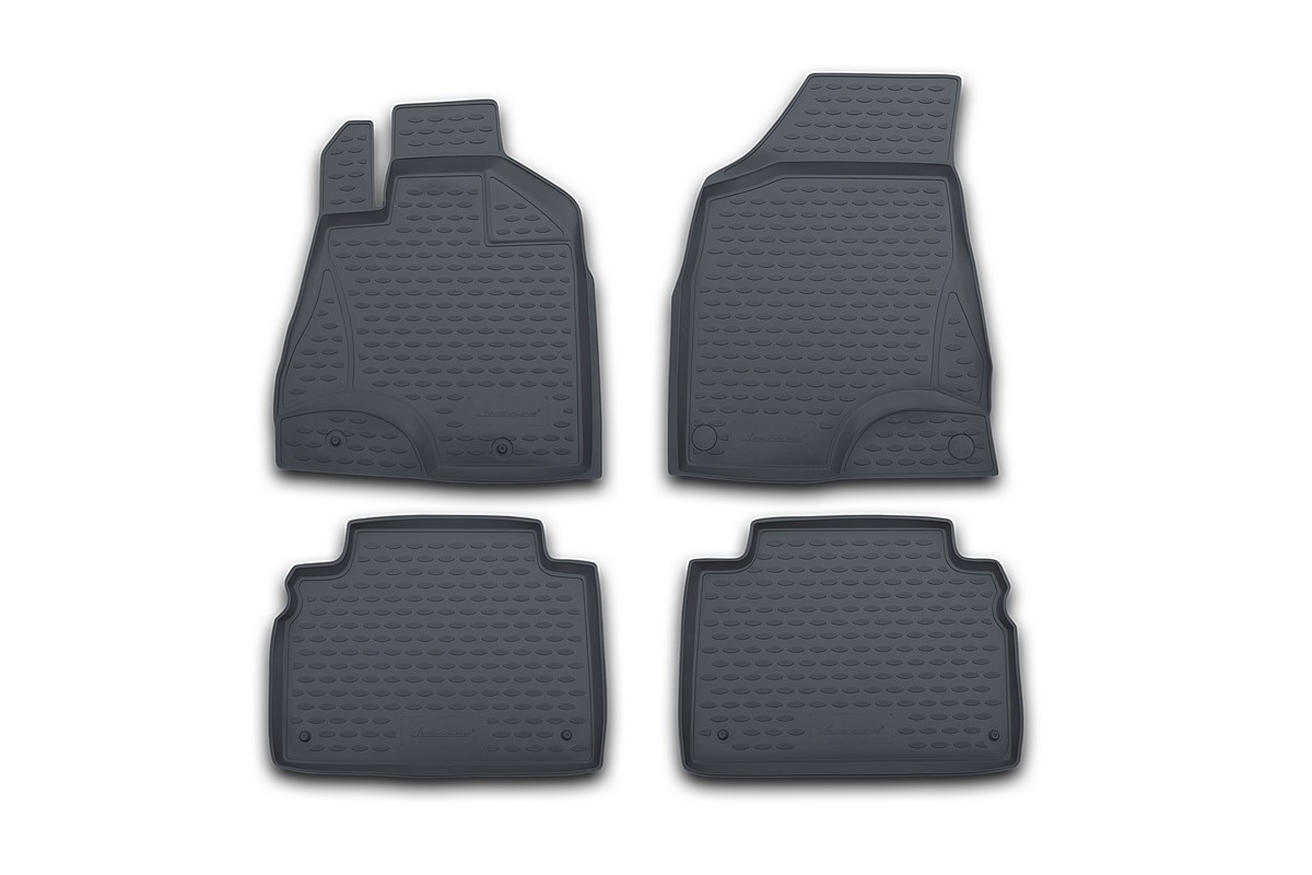 Набор автомобильных ковриков Novline-Autofamily для Subaru Impreza 2007-, в салон, 4 шт. NLC.46.07.211NLC.46.07.211Набор автомобильных ковриков Novline-Autofamily, изготовленный из полиуретана, состоит из 4 ковриков, которые учитывают все особенности каждой модели автомобиля и полностью повторяют контуры пола. Полиуретановые автомобильные коврики для салона произведены из высококачественного материала, который держит форму, прочный и не пачкает обувь. Коврики в салон не только улучшат внешний вид салона вашего автомобиля, но и надежно уберегут его от пыли, грязи и сырости, а значит, защитят кузов от коррозии. Полиуретановые коврики для автомобиля гладкие, приятные и не пропускают влагу. Ковры для автомобилей надежно крепятся на полу и не скользят, что очень важно во время движения. Чистятся коврики очень просто: как при помощи автомобильного пылесоса, так и различными моющими средствами. Набор подходит для Subaru Impreza с 2007 года выпуска.