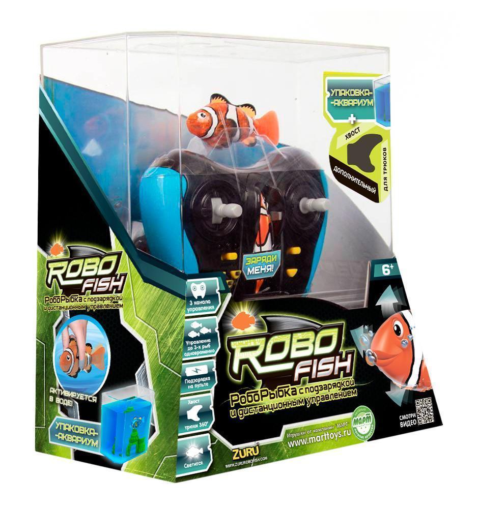 Радиоуправляемая игрушка Robofish  РобоРыбка , цвет: оранжевый - Радиоуправляемые игрушки