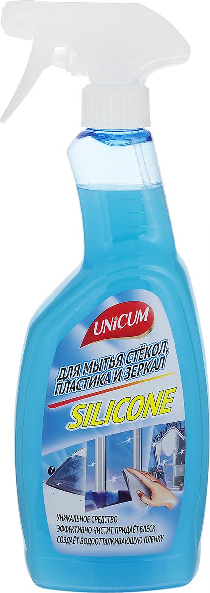 Средство для мытья стекол Unicum Silicone, 750 мл302494Средство Unicum высокоэффективное средство для мягкой очистки гладких и блестящих поверхностей - стекла, зеркал, пластика, кафеля, нержавеющей стали и других видов водостойких материалов и покрытий. Силикон образует прочную водоотталкивающую пленку и защищая поверхность продлевает срок ее службы. Средство быстро удаляет следы от высохших капель воды, следы от рук, мягко очищает полимерные покрытия пластиковых окон.Состав: вода деминерализованная, изопропанол 5-15 %, растворитель менее 5%, силиконовая эмульсия менее 5%, АПАВ менее 5%, функциональные добавки менее 5%, краситель менее 5%, отдушка менее 5%, консервант менее 5%, цитронеллол, линалоол.Товар сертифицирован.