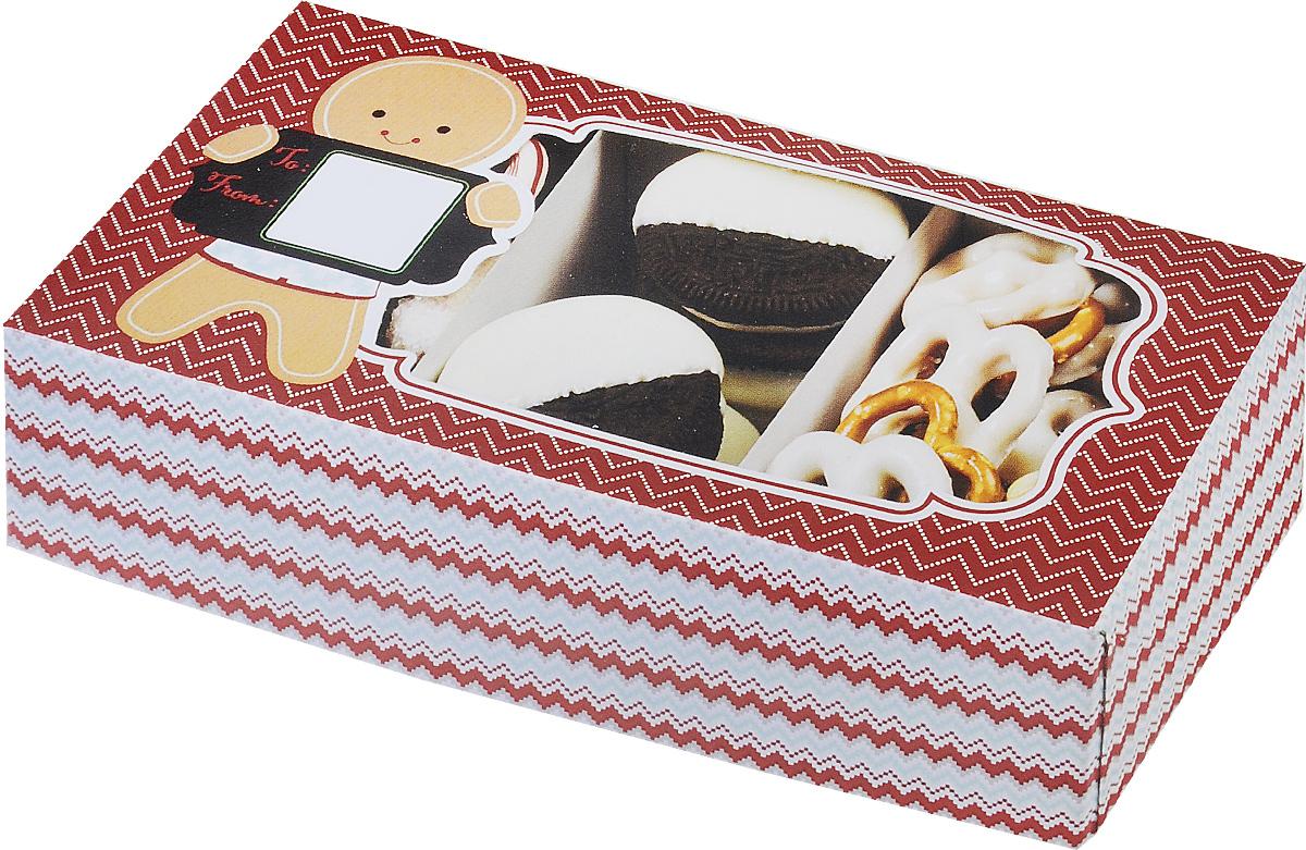 Набор коробок для сладостей Wilton Рождество, 20 х 10,2 х 5,5 см, 3 штWLT-415-2332Набор Wilton Рождество состоит из трех подарочных коробок, изготовленных из картона и предназначенных для упаковки кондитерских изделий. Каждая коробочка оснащена небольшим окошком, благодаря которому можно видеть содержимое.Коробка Wilton Рождество - идеальная подарочная упаковка для вашего сладкого подарка. Просто поместите внутрь пирожное, и удивительно красивый и вкусный подарок готов! Набор также подходит для транспортировки кондитерских изделий. Размер коробки: 20 х 10,2 х 5,5 см.