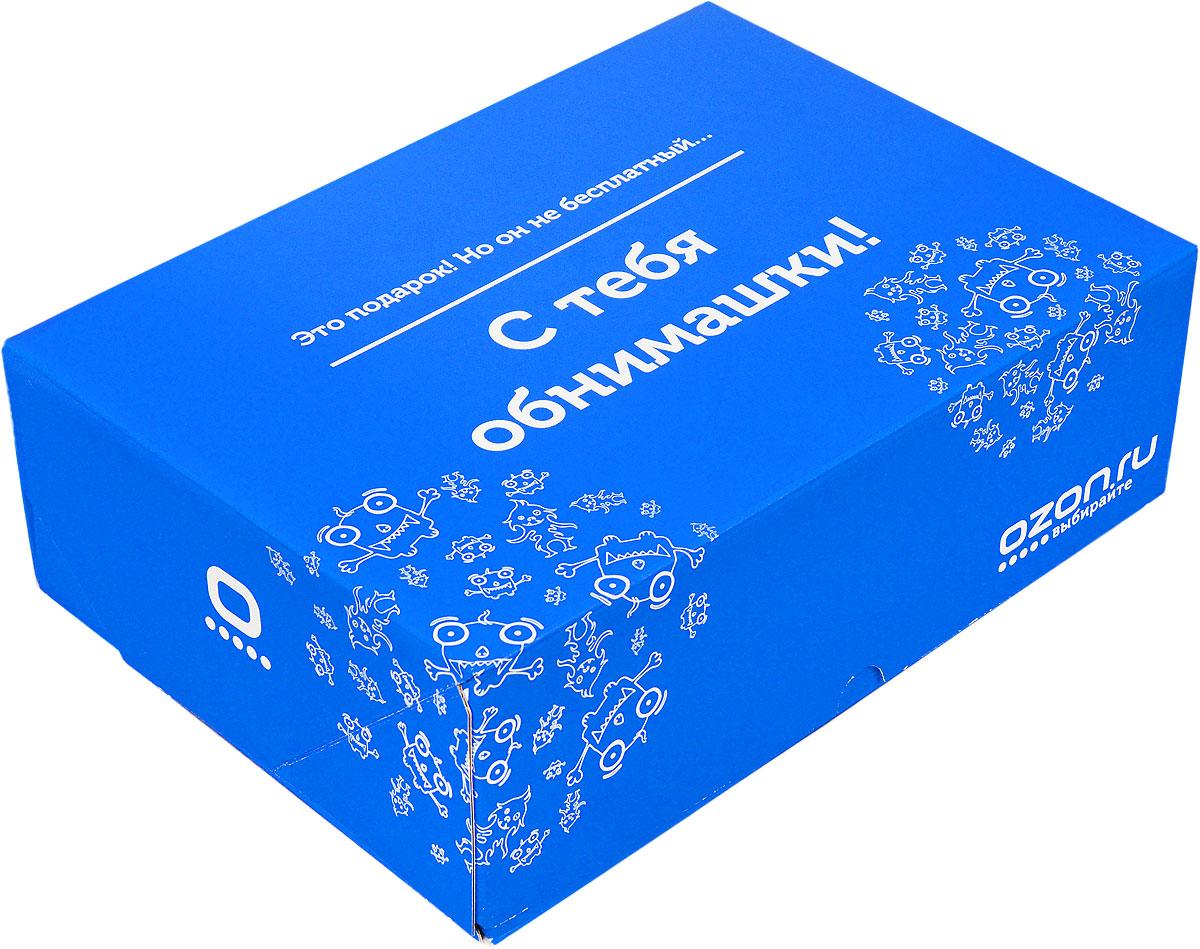 Подарочная коробка OZON.ru. Большой размер, Это подарок! Но он не бесплатный, с тебя обнимашки!. 28.5 х 19.4 х 9 см14564-17Складная подарочная коробка от OZON.ru с веселой надписью Это подарок! Но он не бесплатный! С тебя обнимашки! - это интересное решение для упаковки. Коробка выполнена из тонкого картона с матовой ламинацией. Данная упаковка отлично подходит для небольших подарков и не требует дополнительных элементов - лент или бантов. Размер (в сложенном виде): 28.5 х 19.4 х 9 см.Размер (в разложенном виде): 50 х 29 х 0.5 см.