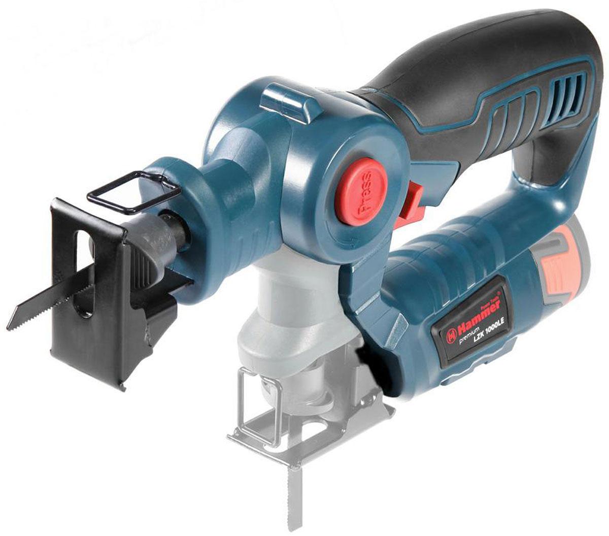 Лобзик-сабельная пила Hammer LZK1000LE PREMIUM (без аккумулятора) набор лобзик hammer lzk1000le ab120le zu120le