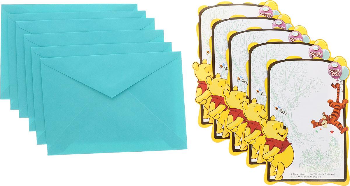 Procos Приглашения в конвертах Винни-Пух 6 шт -  Аксессуары для детского праздника