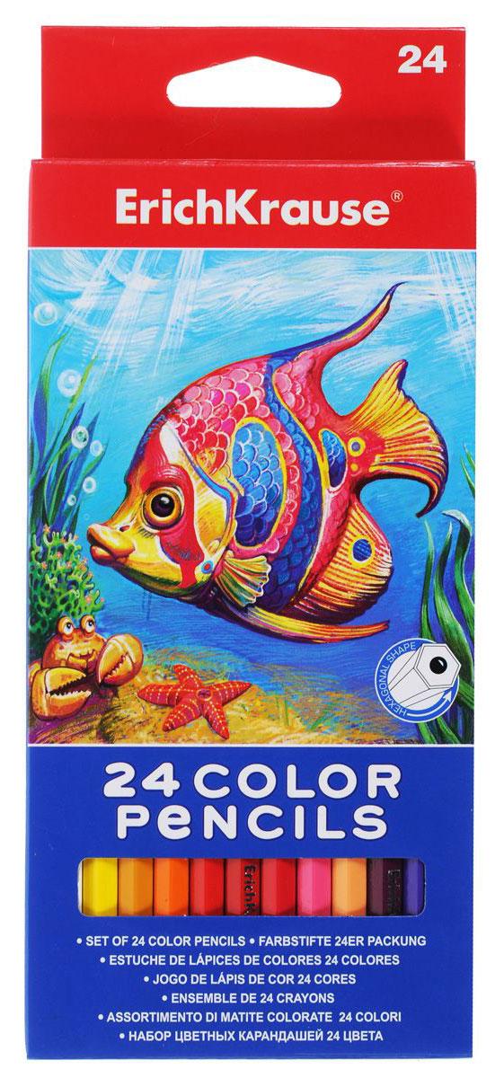 Erich Krause Набор цветных карандашей 24 цветаL3811050Карандаши цветные Erich Krause рекомендованы для обучения рисованию детей дошкольного возраста. Яркие, насыщенные цвета.Толщина грифеля — 5 мм. Эргономичная треугольная форма корпуса карандаша специально разработана нии, при падении не трескаются. Разработаны для маленьких детей — позволяют правильно держать карандаш и рисовать без напряжения. Высококачественные пигменты обеспечивают яркость и мягкость письма.