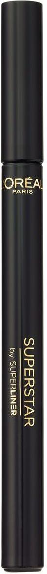 LOreal Paris Подводка для глаз Суперлайнер Суперстар,черная, 6 г103700100Поистине «дизайнерский» лайнер. Аппликатор в форме резервуара равномерно распределяет пигмент и обеспечивает насыщенный черный цвет по всей длине линии. Гибкое основание позволяет контролировать каждое движение и гарантирует каллиграфически точное нанесение любой линии – от самой тонкой до самой широкой. Ослепительный образ. Безупречная линия одним движением.