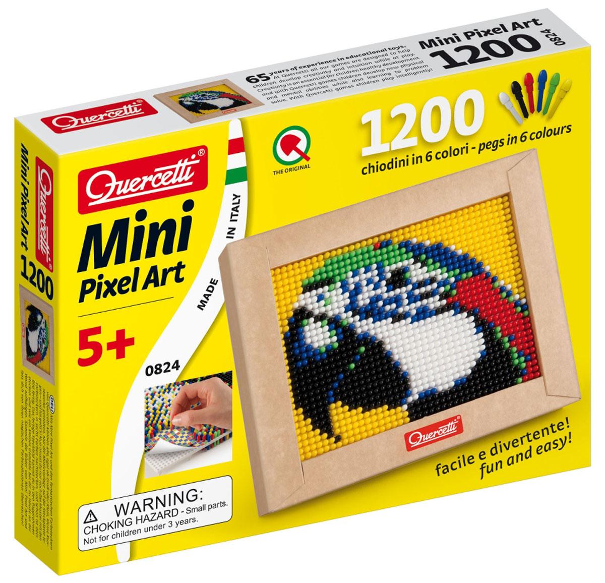 Quercetti Пиксельная мозаика Попугай