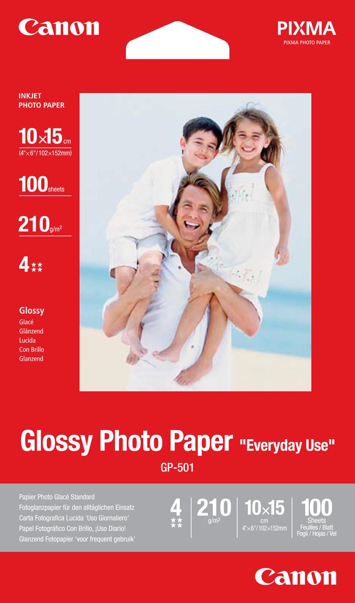 Canon GP-501c/ 4X 6, 100 листов (0775B003)0775B003Глянцевая фотобумага Canon GP-501 для повседневного использования. Размеры: 100 x 150 ммТолщина: 210 мкм