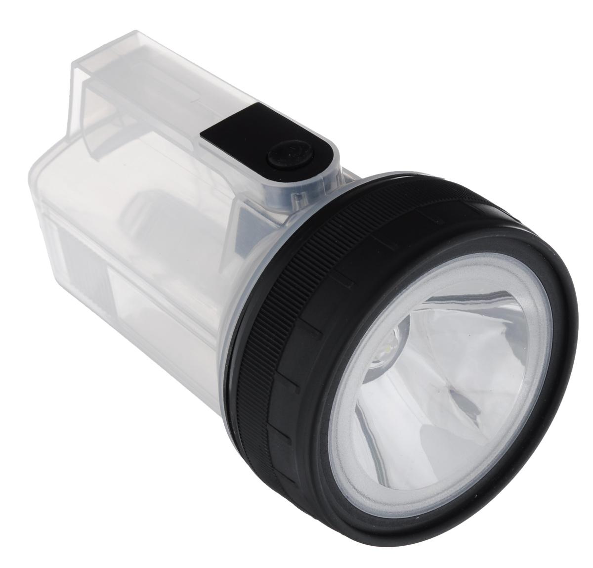 Фонарь ручной ЭРА F15, цвет: черный, серый фонарь эра wla48 автомобильный