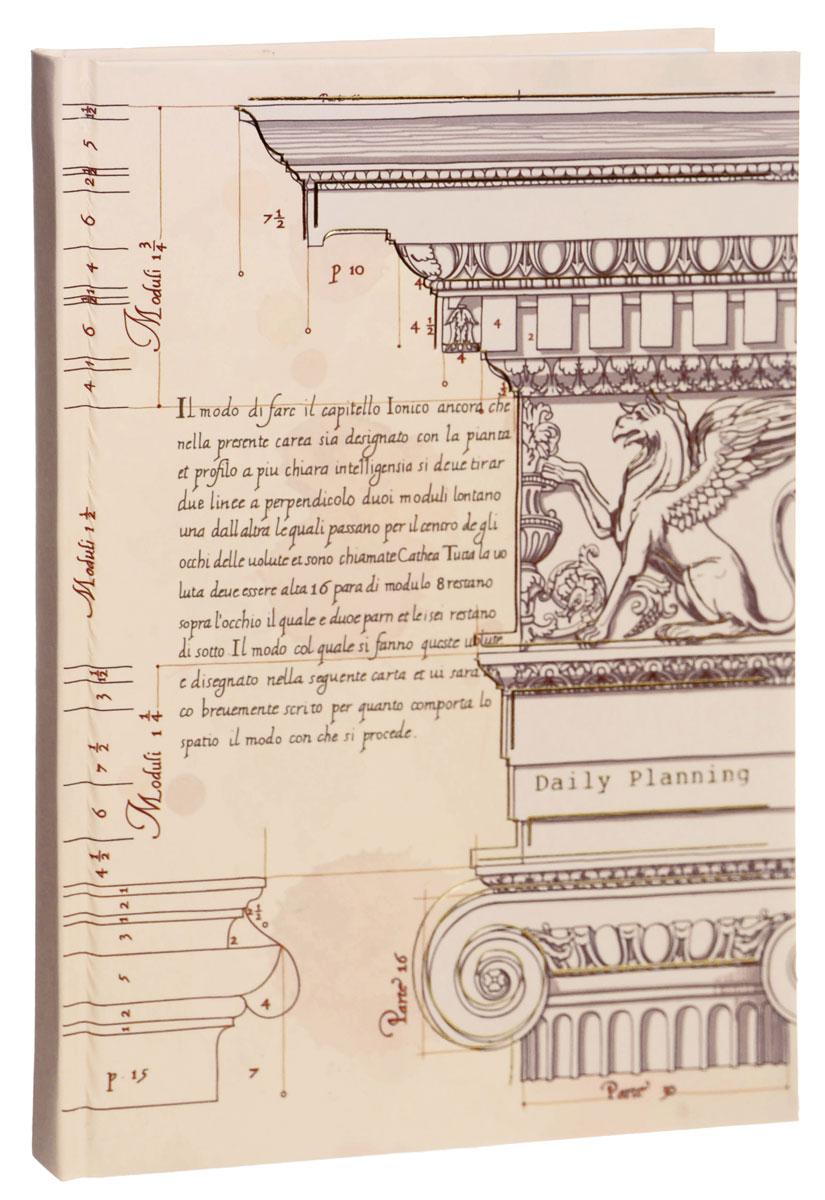 Listoff Записная книжка Архитектурный мотив 100 листов в клетку48Т4B3_03963Записная книжка Listoff Архитектурный мотив - незаменимый атрибут современного человека, необходимый для рабочих и повседневных записей в офисе и дома.Записная книжка содержит 100 листов формата А5 в клетку. Обложка, выполненная из ламинированного картона с тиснением золотистой фольгой, украшена иллюстрацией из классического архитектурного трактата. Внутренний блок изготовлен из высококачественной плотной бумаги, что гарантирует чистоту записей и отсутствие клякс.Записная книжка снабжена закладкой-ляссе. На первой странице помещены личные данные владельца. Книга для записей Listoff Архитектурный мотив станет достойным аксессуаром среди ваших канцелярских принадлежностей. Она подойдет как для деловых людей, так и для любителей записывать свои мысли, рисовать скетчи, делать наброски.