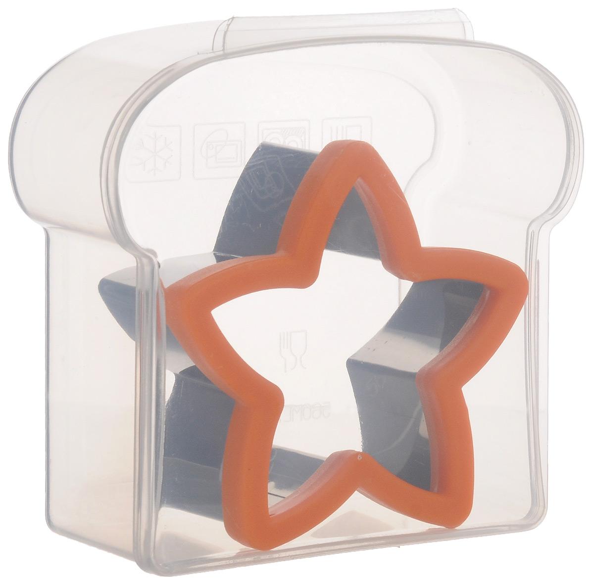 Форма для сэндвича Mayer & Boch Звезда, с контейнером24002Форма для сэндвича Mayer & Boch Звезда изготовлена из нержавеющей стали и пластика. Острая кромка позволяет вырезать фигурки не только из теста, но также из хлеба. Такая форма поможет создавать сэндвичи оригинальной формы и радовать удивительным оформлением всю вашу семью. В комплекте - пластиковый контейнер с герметичной крышкой в форме сэндвича для хранения бутербродов. Можно мыть в посудомоечной машине, не использовать в микроволновой печи. Размеры формы: 10,5 см х 10,5 см х 4,5 см.Размеры контейнера: 14 см х 13,5 см х 5,5 см.