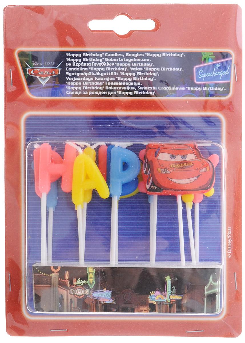 ProcosСвечи-буквы для торта детские Тачки Happy Birthday Procos