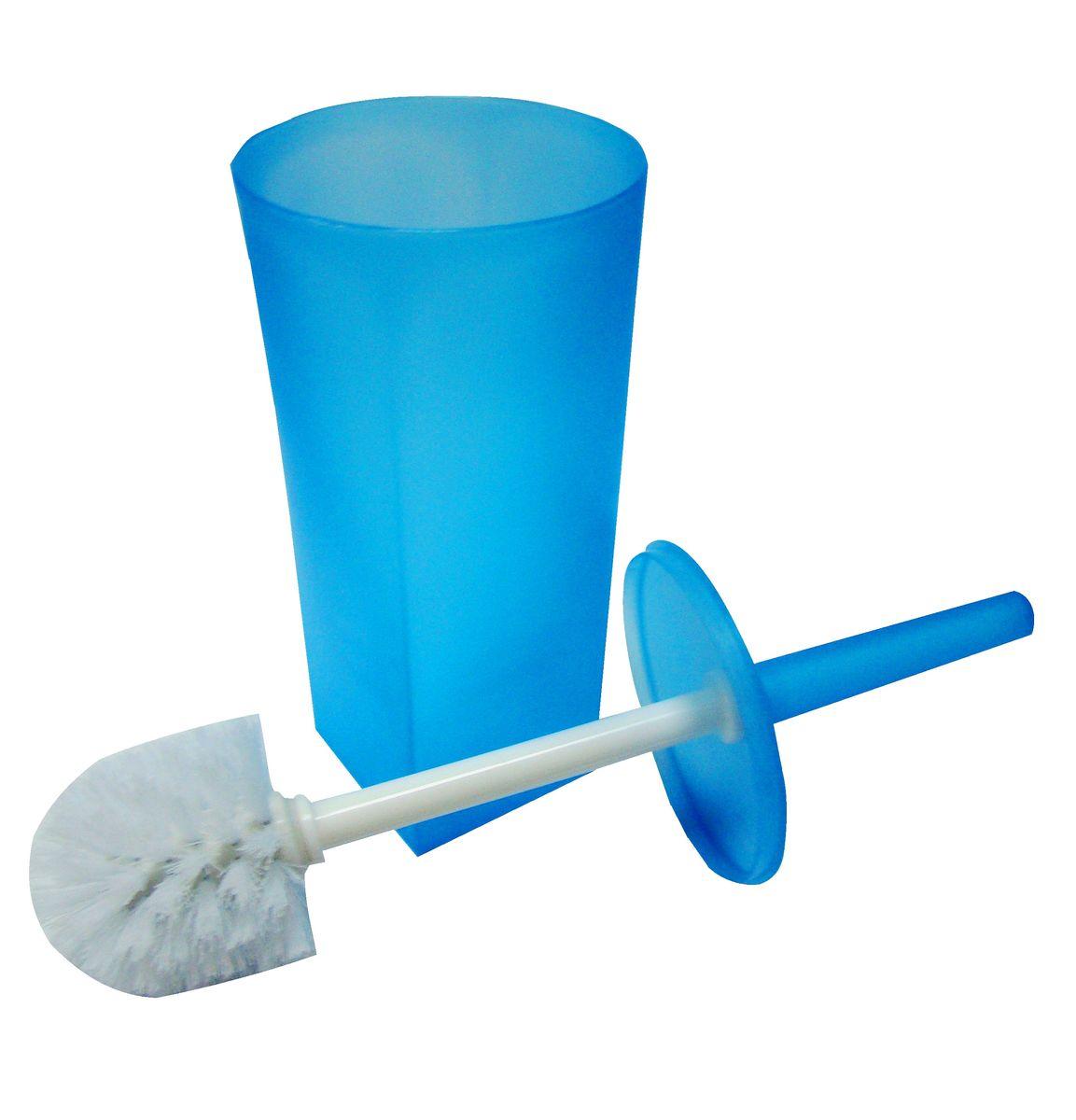 """Ершик для унитаза Vanstore """"Summer Blue""""  выполнен из пластика и оснащен жестким  ворсом. Подставка с устойчивым основанием не  позволяет ершику опрокинуться. Ершик отлично  чистит поверхность, а грязь с него легко смывается  водой. Стильный дизайн изделия притягивает взгляд и  прекрасно подойдет к интерьеру туалетной  комнаты."""