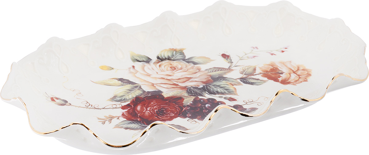 Блюдо Elan Gallery Бархатный нектар, 29 х 17 х 3 см чайная пара elan gallery бархатный нектар цвет бежевый розовый 2 предмета