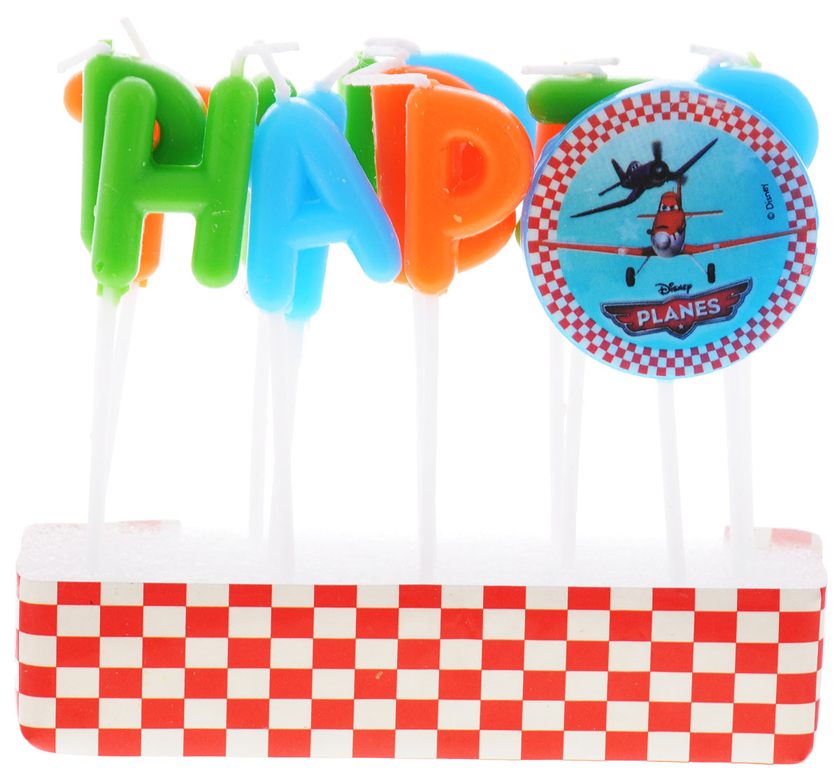 Procos Свечи-буквы для торта детские Самолеты Happy Birthday procos свечи буквы для торта детские винни happy birthday