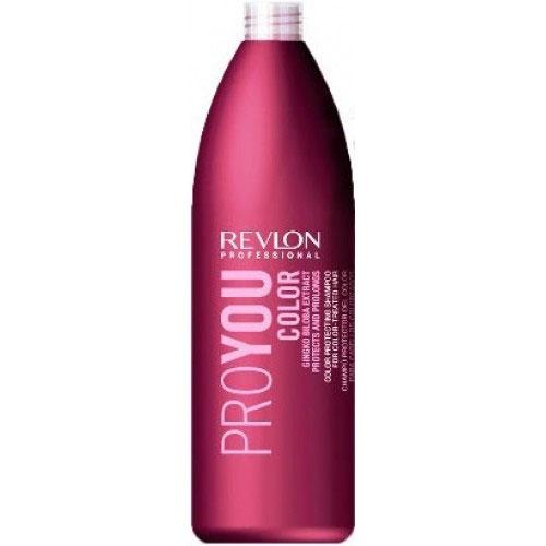 Revlon Professional Pro You Шампунь для сохранения цвета окрашенных волос Color Shampoo 1000 мл7203143000Шампунь Revlon Pro You Color предназначен для сохранения цвета окрашенных, мелированных и обесцвеченных волос. Ваши волосы не потускнеют, по-прежнему демонстрируя окружающим насыщенный цвет и богатство всех его оттенков. В состав шампуня входят UVA/UVB фильтры, защищающие красящий пигмент от воздействия солнечных лучей и экстракт Ginko Biloba стимулирующий обменные реакции и процессы кожного покрова головы. Восстанавливающие компоненты шампуня очищают чешуйчатую структуру волос и сохраняют их цвет на протяжении долгого времени.