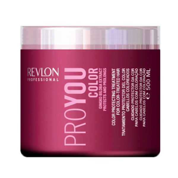 Revlon Professional Pro You Маска для сохранения цвета окрашенных волос Color Mask 500 мл7203144000Маска для сохранения цвета окрашенных волос от Revlon содержит экстракты Ginko Biloba и целый спектр разнообразных UVA/UVB фильтров. Не секрет, что для окрашенных волос требуется особый уход и забота, поэтому компания Revlon разработала Сolor Treatment – специальную маску для ухода за волосами от Pro You. Ее эффективная формула позволяет активно восстанавливать и питать окрашенные волосы и кутикулу, защищать и оздоравливать кожный покров головы в целом. Благодаря своим удивительным свойствам и содержанию натуральных экстрактов Ginko Biloba, маска на долгое время сохранит цвет Ваших волос и богатство всех его оттенков.
