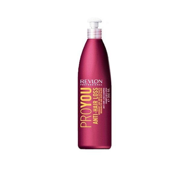 Revlon Professional Pro You Шампунь против выпадения волос Anti-Hair Loss Shampoo 350 мл7203137000Шампунь против выпадения волос от Revlon предназначен для ослабленных и поврежденных волос. Он укрепляет и оздоравливает волосяные корни, делает их прочными и сильными. В состав шампуня входят экстрагированные компоненты розмарина и хмеля, оказывающие комплексное воздействие на рост и силу волос. Выберите шампунь от Revlon и Вы позабудете о проблемах с волосами!