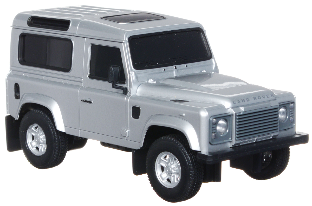 Welly Радиоуправляемая модель Land Rover Defender цвет серебристый