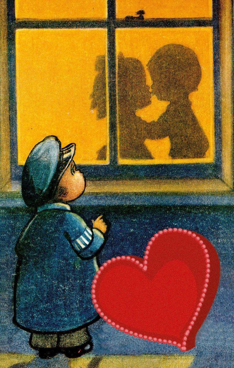 Поздравительная открытка в винтажном стиле №156ОТКР №156Поздравительная открытка в винтажном стиле