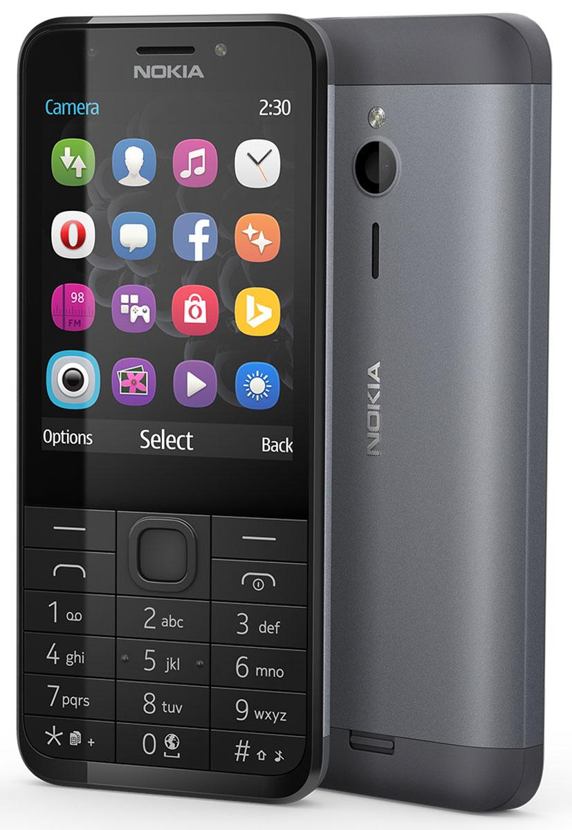 Nokia 230 Dual Sim, Black Silver
