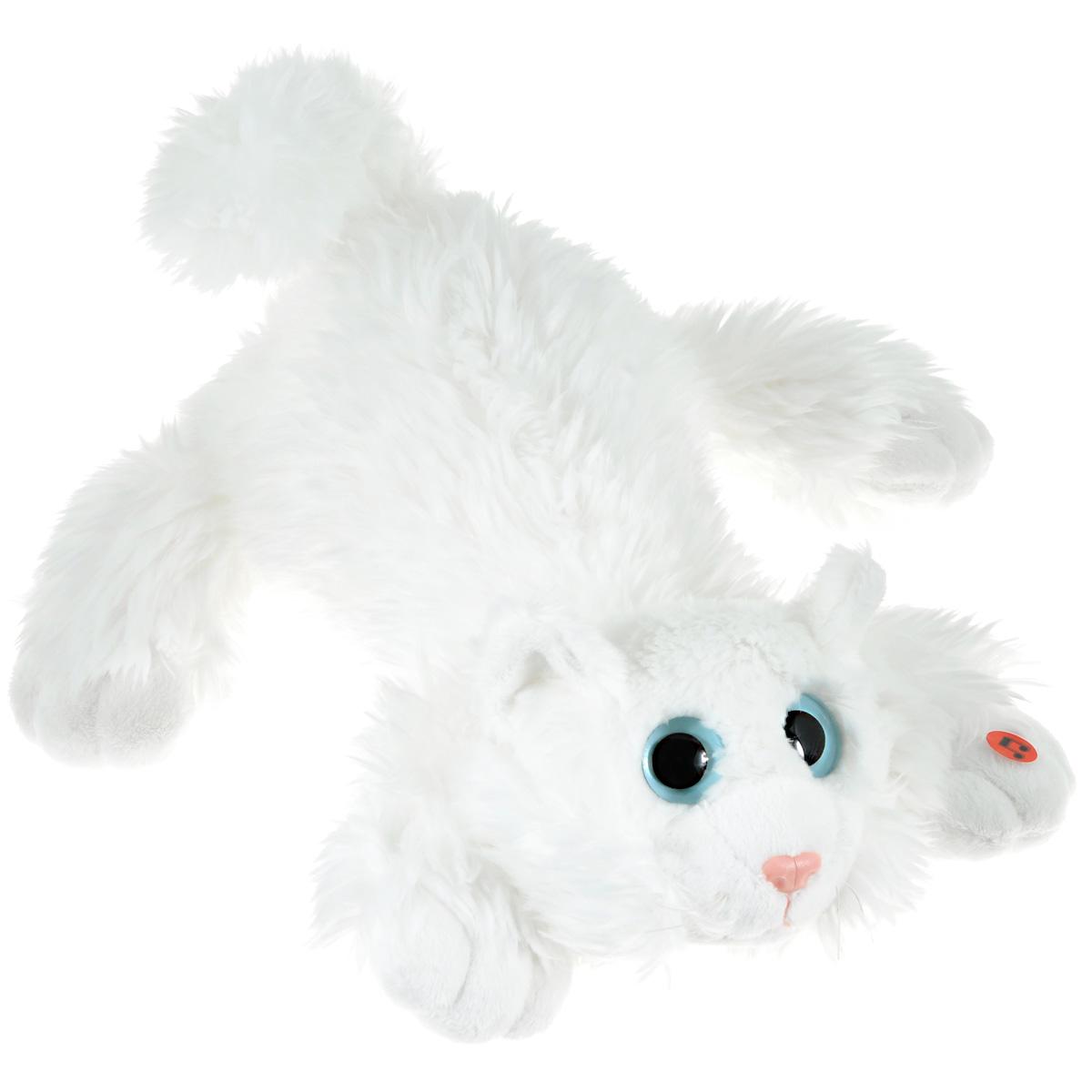 Gulliver Мягкая игрушка Котик Шалунишка цвет белый 45 см