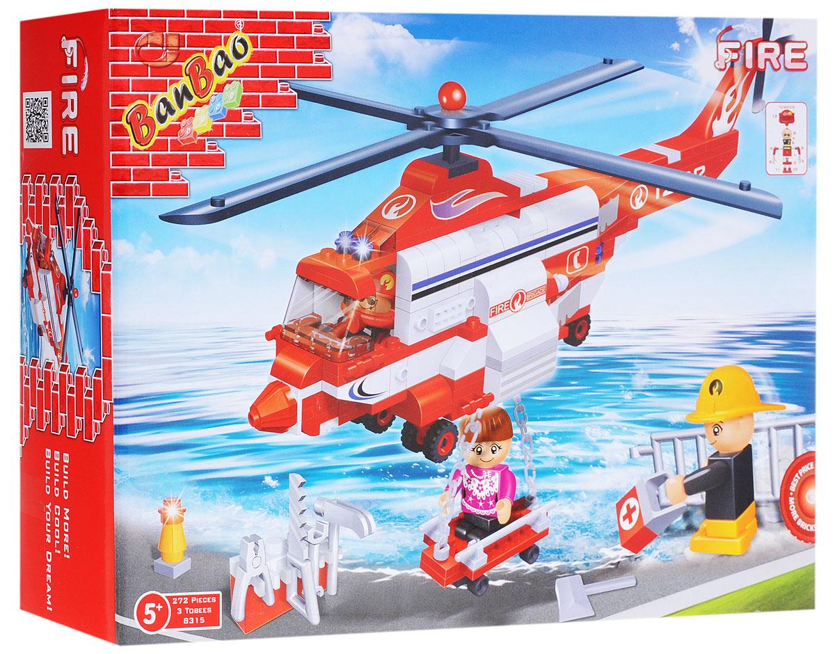 BanBao Конструктор Пожарный вертолет 272 элемента banbao пластиковый конструктор пожарный вертолет 191 деталь
