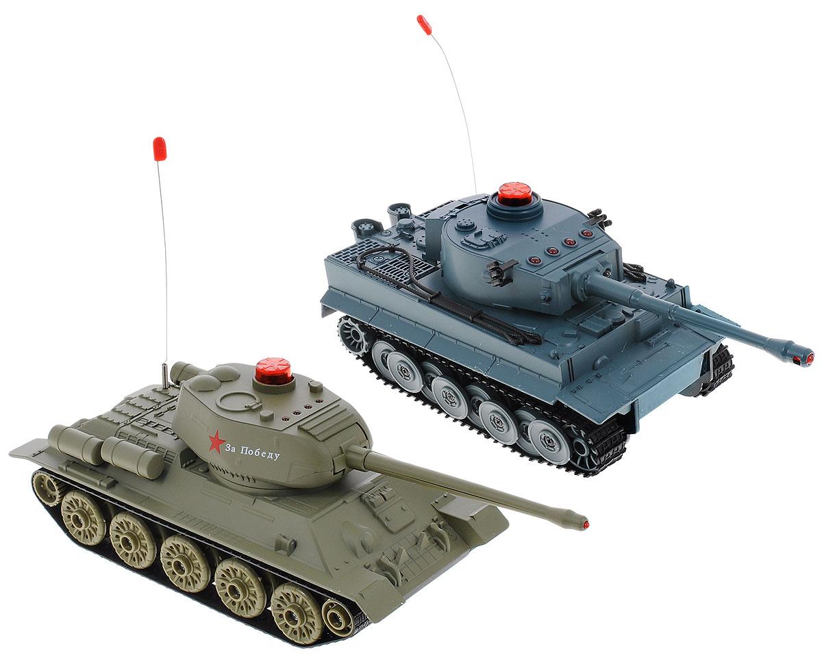 ABtoys Набор танков на радиоуправлении Танковый бой Т34 vs Тигр радиоуправляемые игрушки yako танковый бой