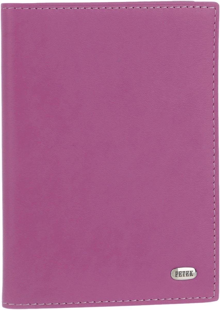 Обложка для автодокументов женская Petek 1855, цвет: пурпурный. 584.167.16Натуральная кожаСтильная женская обложка для автодокументов Petek 1855 выполнена из натуральной кожи. Изделие оформлено металлической пластиной с гравировкой бренда. Внутри имеется два боковых кармана, блок из шести прозрачных файлов из мягкого пластика, один из которых формата А5 и четыре прорезных кармана для визиток и пластиковых карт.Такая обложка не только поможет сохранить внешний вид ваших документов и защитит их от повреждений, но и станет стильным аксессуаром, идеально подходящим вашему образу.