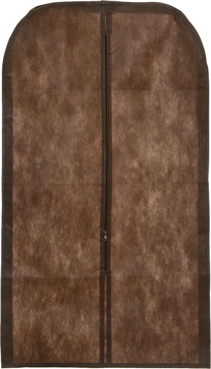 Чехол для одежды Eva, объемный, цвет: коричневый, 65 х 110 х 10 см