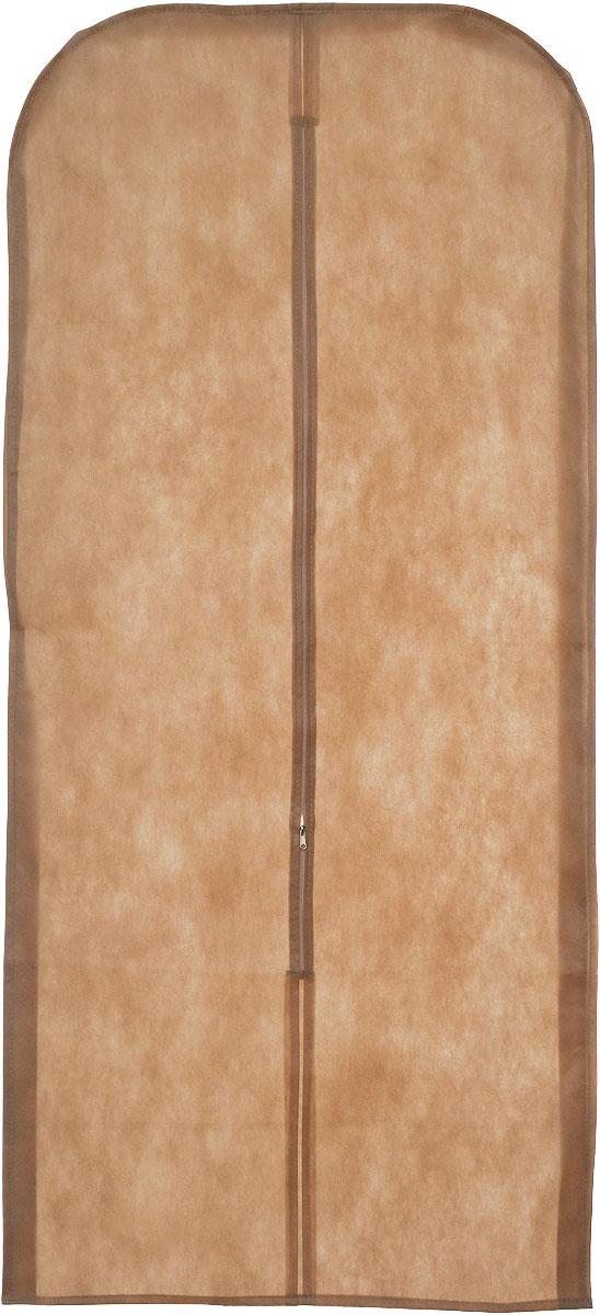 Чехол для одежды Eva, объемный, цвет: светло-коричневый, 140 х 65 х 10 смЕ26_светло-коричневыйОбъемный чехол для одежды Eva изготовлен из высококачественного полипропилена и нетканого материала. Особое строение полотна создает естественную вентиляцию, позволяя воздуху проникать внутрь, но не пропускает пыль. Чехол очень удобен в использовании. Благодаря наличию боковой вставки увеличивает объем чехла, что позволяет хранить крупные объемные вещи. Это особенно необходимо для меховой, кожаной и шерстяной одежды. Чехол легко открывается и закрывается застежкой-молнией. Чехол для одежды Eva создаст уютную атмосферу в женском гардеробе. Лаконичный дизайн придется по вкусу ценительницам эстетичного хранения и сделают вашу гардеробную изысканной и невероятно стильной.