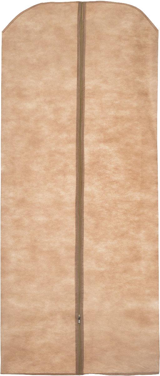 Чехол для одежды Eva, цвет: светло-коричневый, 65 х 150 см. Е17Е17_светло-коричневыйЧехол для одежды Eva изготовлен из высококачественного полипропилена. Особое строение полотна создает естественную вентиляцию: материал дышит и позволяет воздуху свободно проникать внутрь чехла, не пропуская пыль. Благодаря форме чехла, одежда не мнется даже при длительном хранении. Застегивается на молнию.Чехол для одежды будет очень полезен при транспортировке вещей на близкие и дальние расстояния, при длительном хранении сезонной одежды, а также при ежедневном хранении вещей из деликатных тканей. Чехол для одежды Eva не только защитит ваши вещи от пыли и влаги, но и поможет доставить одежду на любое мероприятие в идеальном состоянии.
