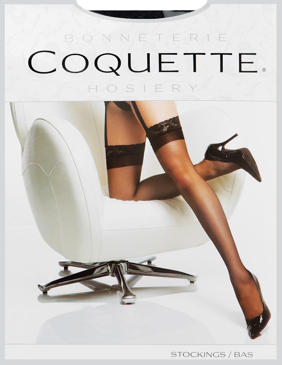 Чулки с поясом Coquette Lingerie, цвет: черный. 1752BLKCQ. Размер 40/48