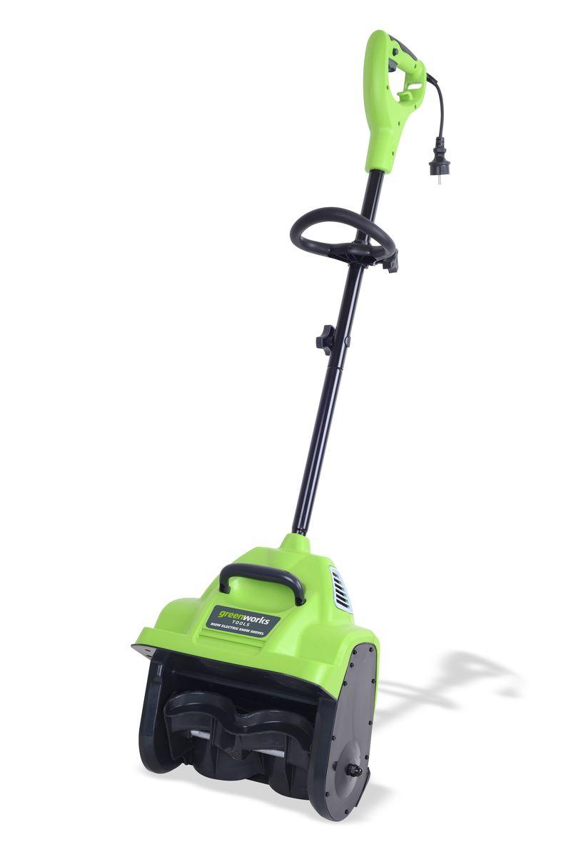 Снегоуборщик электрический Greenworks  GES8 , 950 Вт, 30 см - Садовая техника